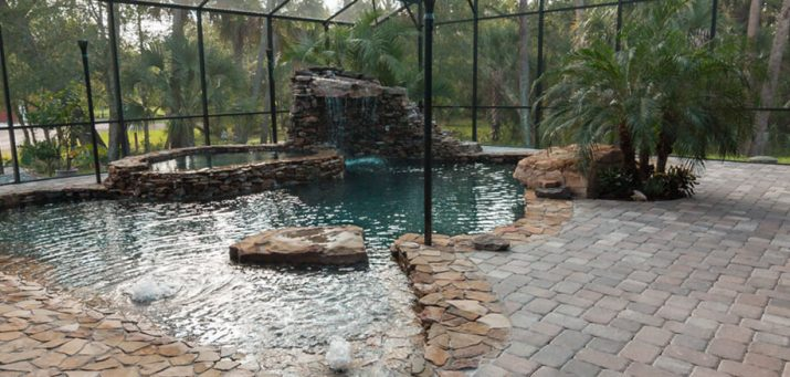 Pool Design Trends Creating A Tropical Lagoon In Palm Coast Fl Exquisite Pool Spa